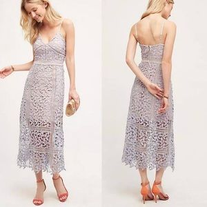 Anthropologie Tingle Floral Lace Midi Dress